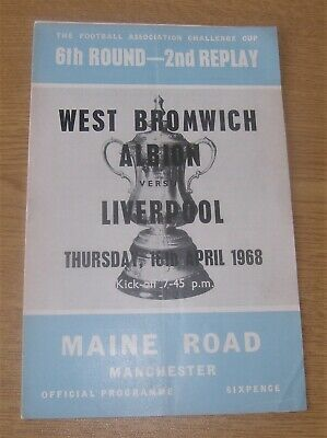 £3 • Buy Liverpool V West Brom FA Cup 1968 Programme