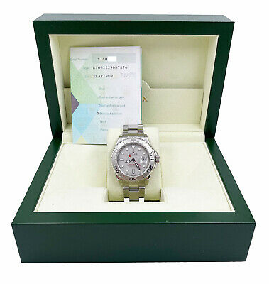 AU14260.48 • Buy Rolex Yacht Master 16622 Platinum Stainless Steel Box Papers 2002
