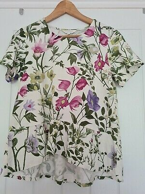 £4 • Buy Braintree Floral Print Peplum Summer Holiday Top Mint Condition Size 10-12 S