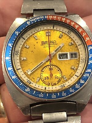 $ CDN304.67 • Buy Seiko 6139-6002 Pepsi , Pogue, Working But For Spares Or Repairs