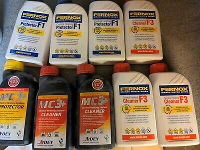 £60 • Buy 9 X MC1+, MC3+ And Fernox  Central Heating System Protector And Cleaner Bundle