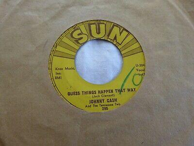 £1.20 • Buy Johnny Cash - Guess Things Happen That Way / Come In- Orig U.s.a. Sun 295 (1958)