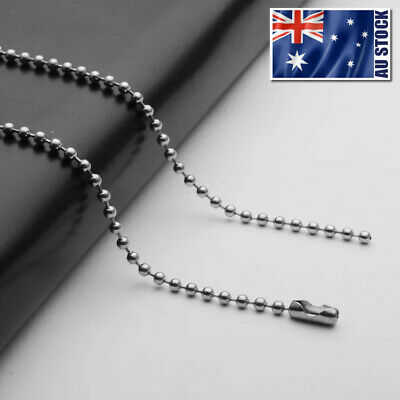 AU3.99 • Buy Wholesale 316L Stainless Steel Ball Bead Necklace Chain For Pendants 16  - 36
