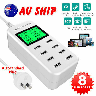 AU26.96 • Buy USB Hub Charging Station 8 Port Phone Charger Multi Dock Charger Power Adapter