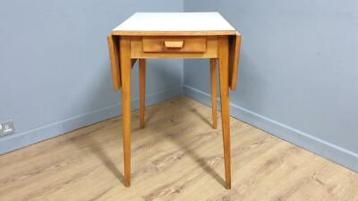 £19.99 • Buy Mid Century 3ft Formica Folding Drop Leaf Table With Drawer Retro Chic