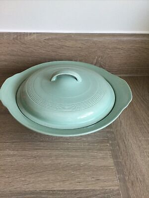 £5.90 • Buy VINTAGE WOOD'S WARE BERYL GREEN Tureen With Lid In VGC See Photos