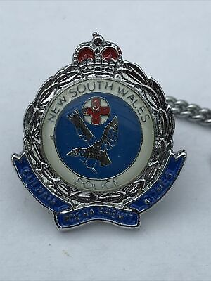 £5 • Buy New South Wales Police ~ Tie Pin Badge With Chain And Bar ~ Enamel & Metal
