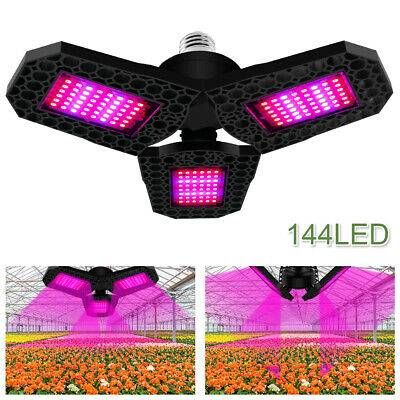 £11.88 • Buy Full Spectrum 144LED Grow Light Plant Growing Lamp For Indoor Plants Hydroponics
