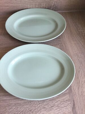 £10 • Buy Woods Ware Beryl (green) Oval Serving Platter / Steak Plate 12 Inches (30cm) Gc