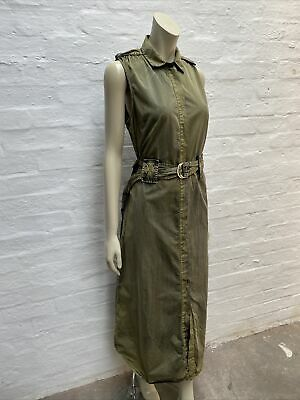 £34.99 • Buy REPLAY Dress Two Tone Maxi Belted Cotton Size 14 16