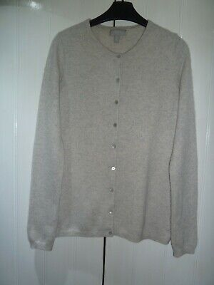 £8.50 • Buy Ladies Light Grey 100% Cashmere Cardigan By The White Company In Size 12