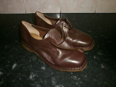 £9.99 • Buy Vintage Ladies Brevitt Casuals Brown Shoes, Size 3, Padded Arch Support