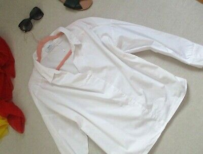AU16.63 • Buy BERSHKA White Oversized Shirt Size M Fits For 14/16 Worn Once