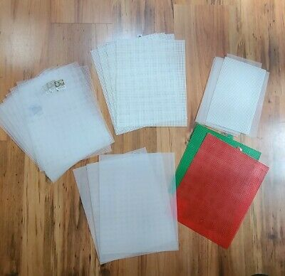 £10.79 • Buy Lot Of 17 Mesh Plastic Canvas Sheets Clear, White, Red & Green Most Sz.7