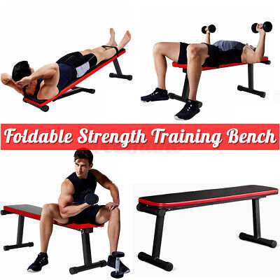 £33.89 • Buy Folding Decline Sit Up Bench Crunch Dumbbell Press Board Fitness Workout Home