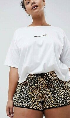 AU20 • Buy NWT ASOS Curve Runner Shorts In Animal Print Size 22
