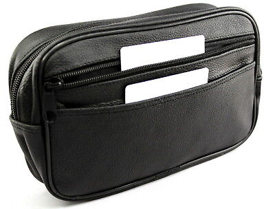 AU44.15 • Buy Leather Wash Bag For Men Size S Toiletry Bags Toilet Bag Robust Dr.Dittmar
