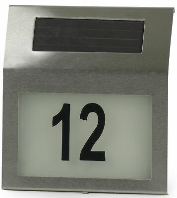 £9.99 • Buy Solar Powered LED Illuminated House Door Number Light Wall Plaque