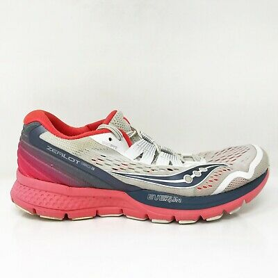 $ CDN85.46 • Buy Saucony Womens Zealot ISO 3 S10369-4 White Running Shoes Lace Up Low Top Size 9