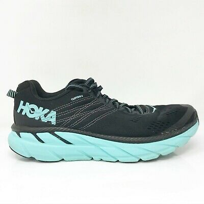 $ CDN86.72 • Buy Hoka One One Womens Clifton 6 1102873 BASY Black Running Shoes Lace Up Size 9