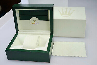 $ CDN52 • Buy Vintage Rolex Watch Box Case - Green Wood Display Case With Outer Box