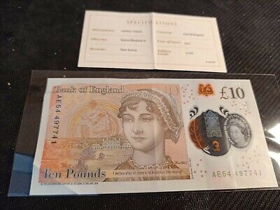 £7.18 • Buy £10 Ten Pound Note Jane Austin Uncirculated Condition AE