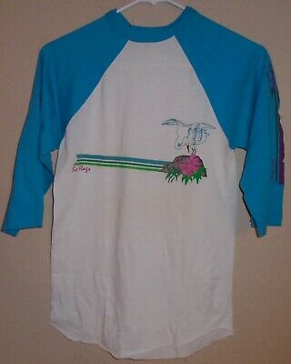 $ CDN31.47 • Buy Vintage 1980s Six Flags 50/50 Made In USA 3/4 Sleeve T Shirt Small