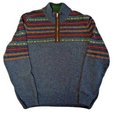 £17.17 • Buy Thomas Dean Mens XL Made In Italy Wool Blend Half Zip Pull Over Sweater Shirt