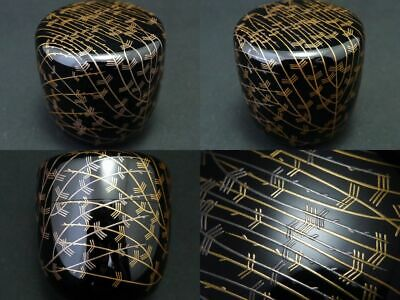£57.66 • Buy Japanese Lacquer Wooden Tea Caddy Gold And Silver Willow Makie Chu-Natsume   601