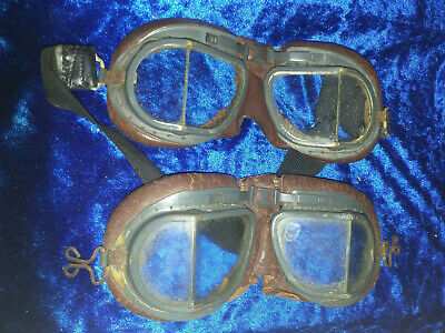 £150 • Buy  Two Pairs Of Original WW2 RAF MK8 Flying Goggles