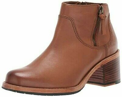 £34.99 • Buy Clarks Clarkdale Dawn Dark Tan Leather Women Ankle Boots Size 5 D