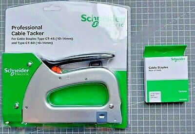 £3.99 • Buy Schneider Electric Pro Cable Tacker + 1,000 CT-45/10mm Staples