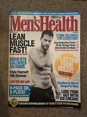 £1 • Buy Mens Health Magazine August 2020 Lean Muscle Fast