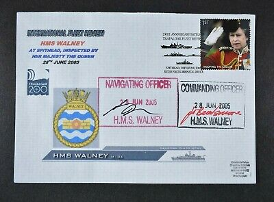 £0.99 • Buy 2005 FLEET REVIEW COVER, HMS WALNEY, Signed By Commanding Officer & Navigator.