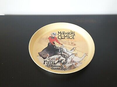 £50 • Buy Rare Vintage Pub Tray Motorcycle Comiot French Paris 87 Boulevart Not Guinness