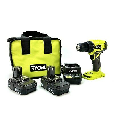 £44.16 • Buy RYOBI P215K1 18-Volt ONE+ Lithium-Ion Cordless 1/2 In. Drill/Driver Kit