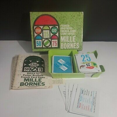 $22.99 • Buy Vintage MILLE BORNES French CARD GAME Complete 1962