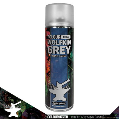£10 • Buy Colour Forge Wolfkin Grey Miniature Spray Paint(500ml)