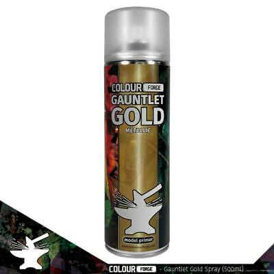 £10 • Buy Colour Forge Gauntlet Gold Miniature Spray Paint (500ml)