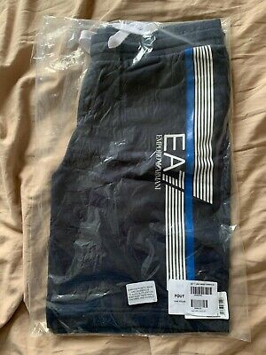 £19.99 • Buy EA7 (Emporio Armani) BRAND NEW WITH TAGS Navy Blue Line Sweat Shorts, Size Large