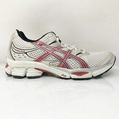 $ CDN80.44 • Buy Asics Womens Gel Cumulus 11 T997N White Red Running Shoes Lace Up Low Top Size 9