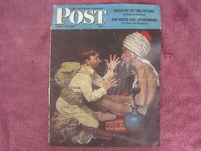 $ CDN6.29 • Buy June 26, 1943 Saturday Evening Post Norman Rockwell Cover Page Magic Rope Trick