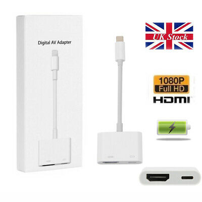 £1 • Buy Light To HDMI Digital Cable Adapter For IPad IPhone X 6 7 8 Plus IPad To TV