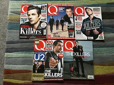 £6 • Buy Q Magazine Featuring THE KILLERS, BRANDON FLOWERS,  5 Different Issues.