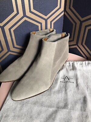 £55 • Buy Russell & Bromley Aquatalia Grey Suede Ankle Boots Size 39.5 6.5