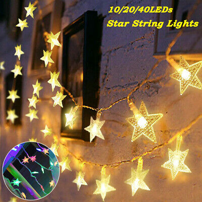 £5.27 • Buy 1-6M 10-40LEDs Star String Fairy Lights Battery USB Operated Wedding Party Decor
