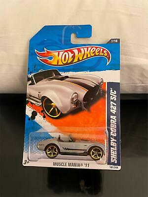 £4.36 • Buy 2011 Hot Wheels #107 Muscle Mania 7/10 SHELBY COBRA 427 S/C Silver   D2