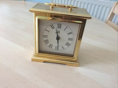 £2.50 • Buy Brass Golden Finish Quartz Carriage Clock With Battery Movement