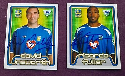 £0.99 • Buy Portsmouth Fc Merlin Premier League Signed Stickers Unsworth & Fullerl