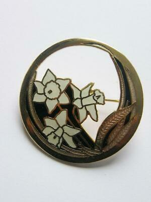 £12.99 • Buy  Fish And Crown  Vintage Springtime Daffodil Jonquil Narcissi Brooch Pin